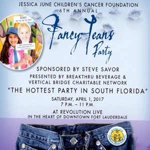 Jessica June Children's Cancer Foundation Fancy Jeans Party Logo