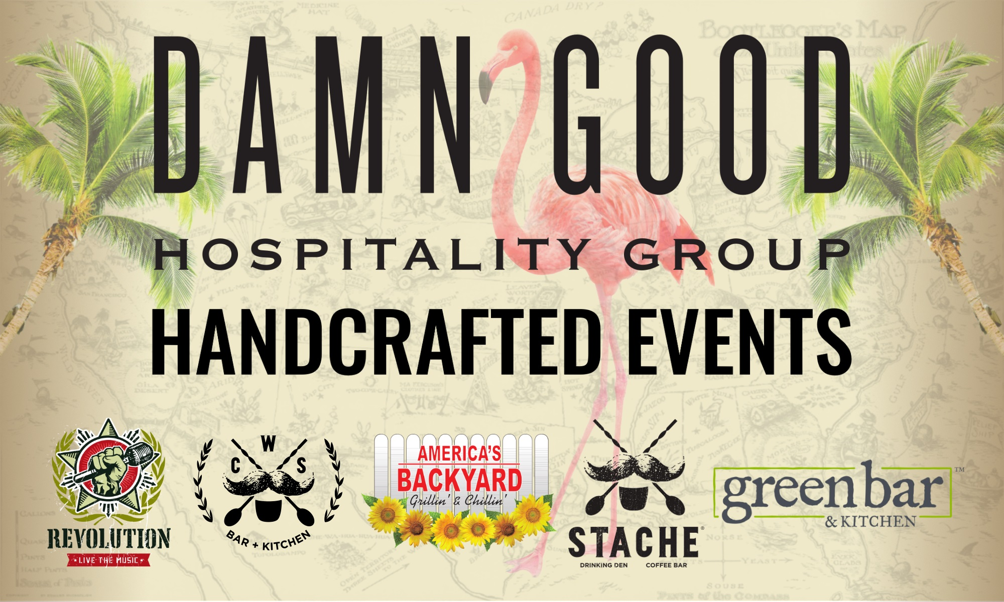 Image of Damn Good Hospitality Group's Handcrafted Events graphic